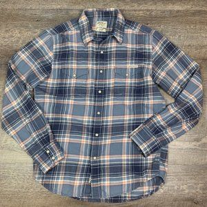 Lucky Brand Men's Plaid Flannel Button Down Small